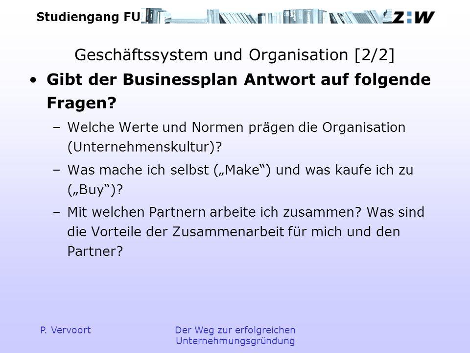 Geschäftssystem und Organisation [2/2]